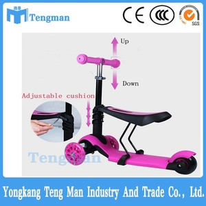 normal popular mini 3in1 kick scooter with T-bar for kids