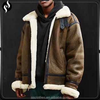 Europäische Buy Jacke Liner Design Schaffell Leder Bomber lammfell Jacke Jacke bomber Lammfell Pelz Vintage by76gvmIfY