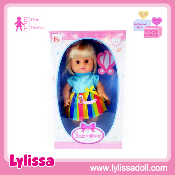 Wholesale 14 inch vinyl soft plastic baby doll moving eyes with cloth.