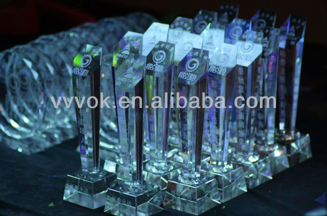Crystal awards and trophies for sale