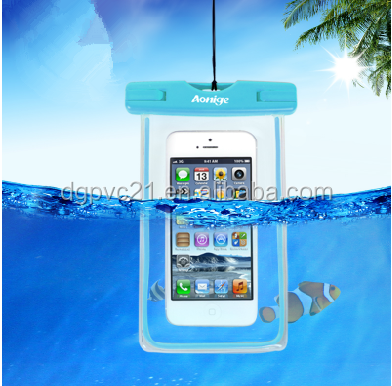 Promotional gift! PVC Waterproof Cell Phone Bag for 5.5 inch phone or below