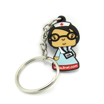 Cheap custom rubber keychains no minimum order