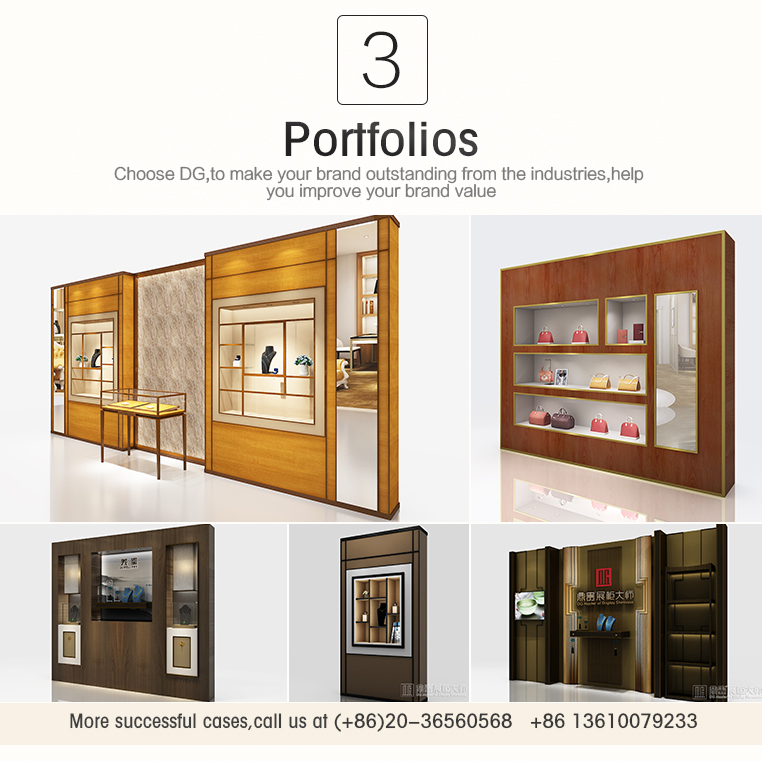 Jewelry Store Wooden Aluminum Frame Glass Showcase