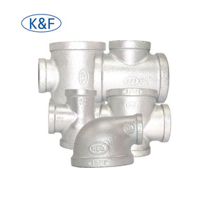 China Supplier cast iron pipe fittings malleable 90 degree beaded bend