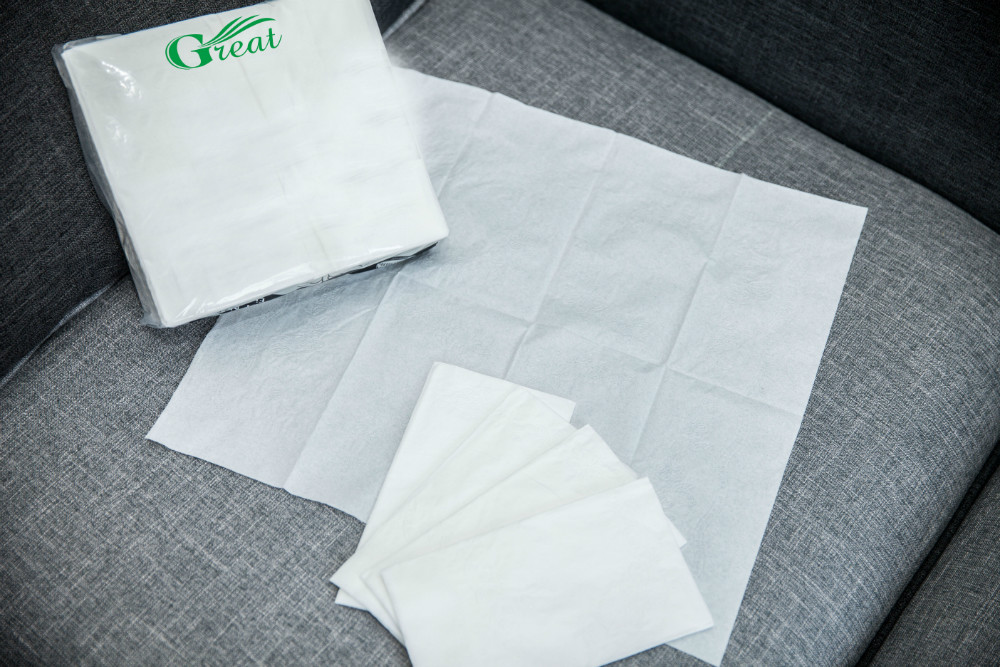 Tissue paper wrapping dinner napkins OEM white paper original pack double ply