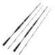 New design wholesale trolling rods boat fishing rod 2 section carbon fishing