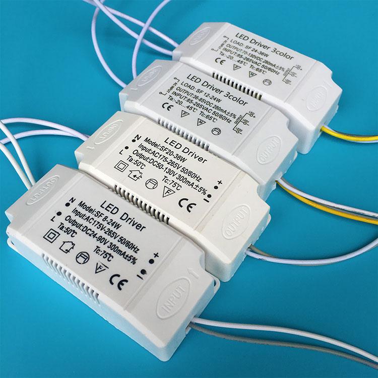 Led Double Color Temperature Driver Ac 170 250v 280ma 25 40 2w Transformer Ballast