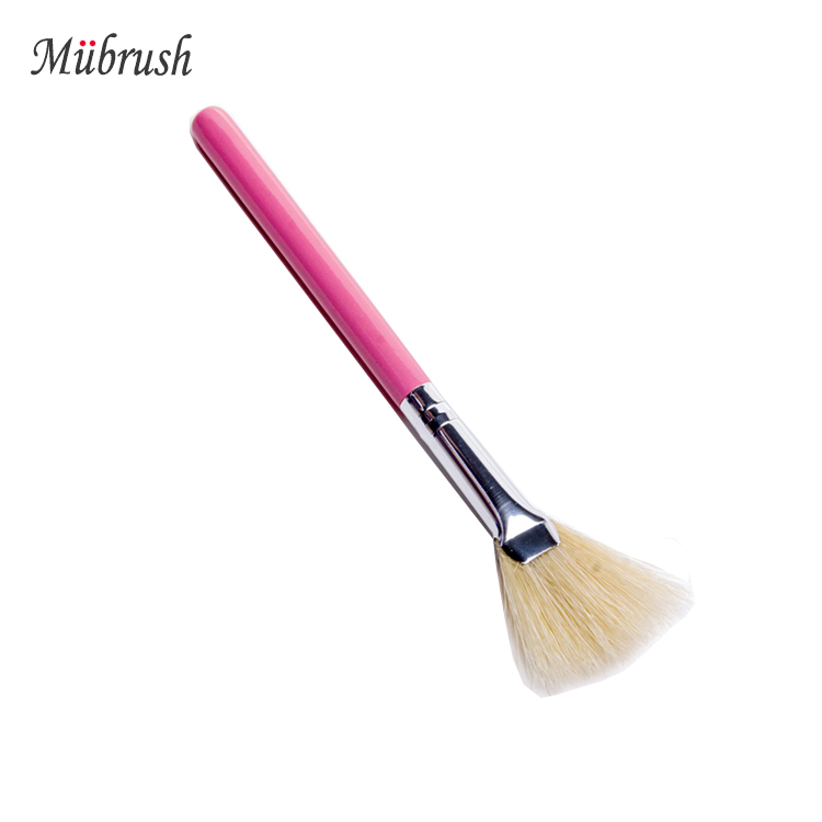 High Quality Factory 1pcs Pink Disposable Fan Makeup Brush
