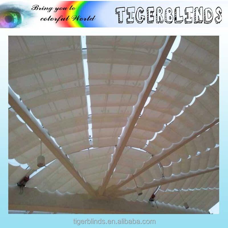 2017 new wire design customized made swimming pool awning canopy
