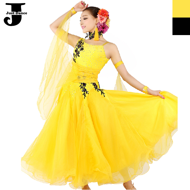 76a9035ec Get Quotations · Luxury Ballroom Dance Competition Dresses Yellow/Black  Lady Jazz/Tango/Waltz/Ballroom