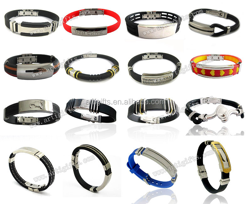 Wholesale Leather Bracelet Stainless Steel Leather Wrist Band