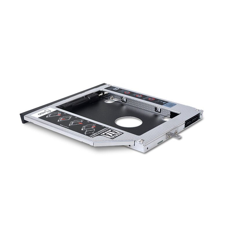 "9.5mm Second HDD caddy tray Laptop 2nd HDD Caddy SATA 2.5"" Aluminium 2nd Hard Drive Disk HDD/SSD Caddy"