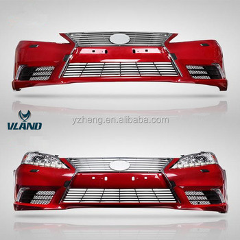 VLAND factory for car bumper for ES 350 bumper for 2007-2012 with light bar fog lamp and middle grille for ES 350 Front bumper