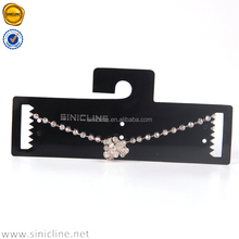 Sinicline cool black color custom logo jewelry necklace card