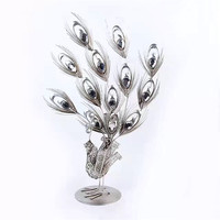 New Product Wrought Iron Peacock Art Metal Craft For Home Decoration