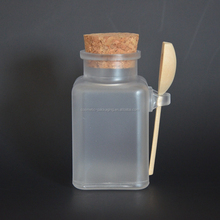 Promotion 100ml/g Empty Plastic Facial Mask Container,Bath Salt Bottle With Wooden Spoon Women Cosmetic Fefillable Jar