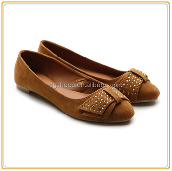 9881c7001e62 New china lady latest style casual flat women dress shoe cute Flat  Ballerina Slip-on