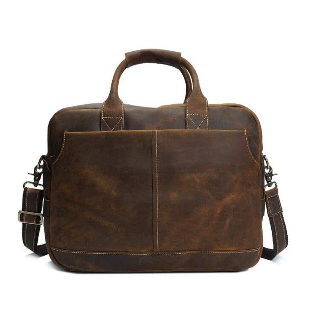 Sububblepper Men s Messenger Bag Leather Shoulder Bag Briefcase Bag for  Laptop Messenger Mens Business Bag ( 84ee810824be8