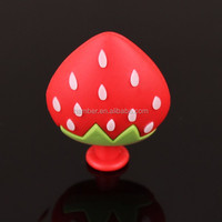 Custom Soft Rubber PVC cute strawberry shaped promotional gifts