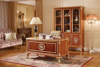 Bureau de direction de luxe table de lecture en bois sculpté