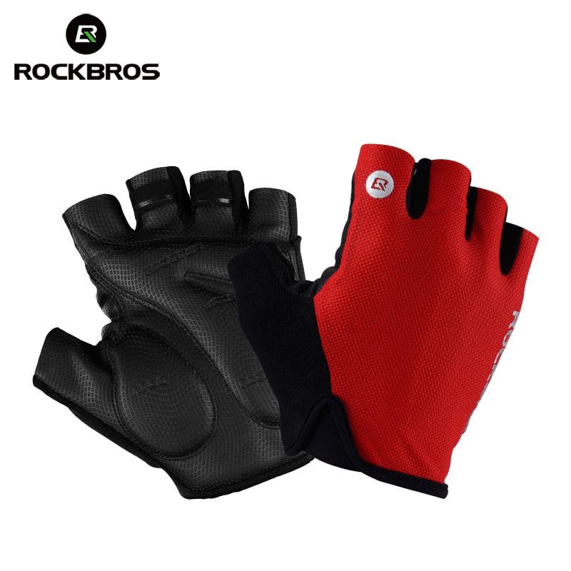 RockBros Summer Cycling Half Finger Gloves Bike Short Shockproof Gloves