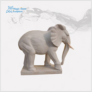 life-size white marble elephant statues for garden