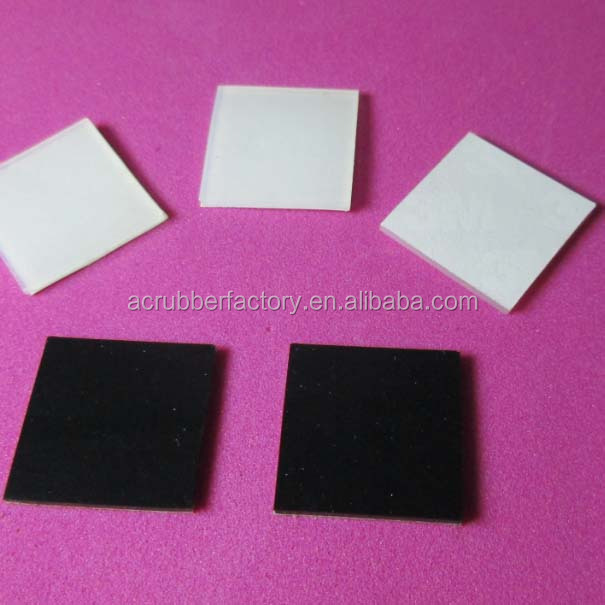 10 x 10 x 4 mm Thick ~ Square 3 m Rubber Feet Bumpons Stoppers ~ Clear White Black