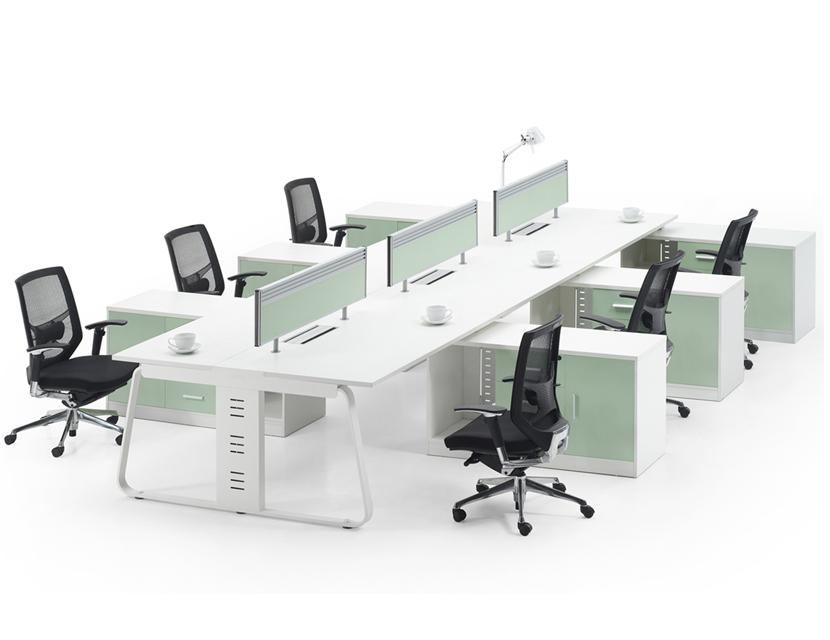 Metal frame factory Modern Style Modular Office 6 person Workstation