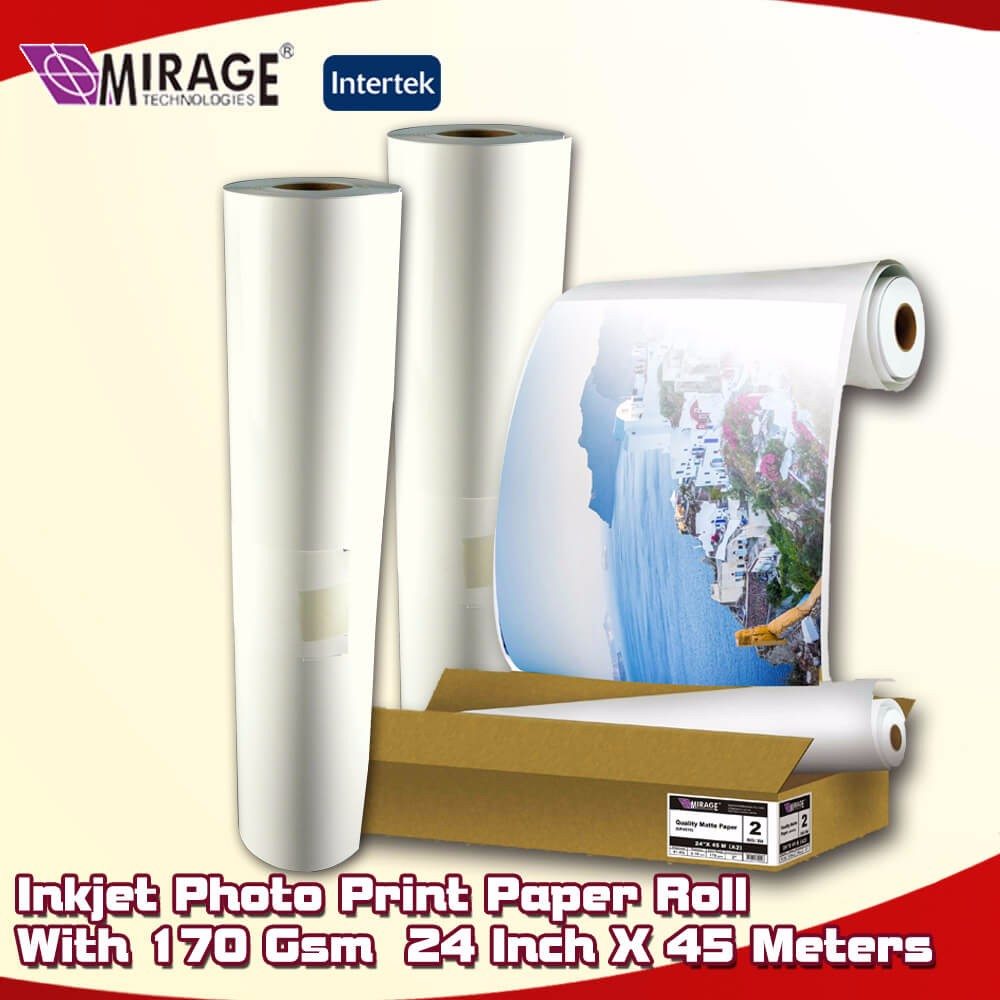 Printer Roll 170 Gsm 24 Inch Matte Photo Paper Paper