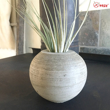 S8017 4 Simple Sphere Vase Mold Silicone Molds Cast Concrete Ball