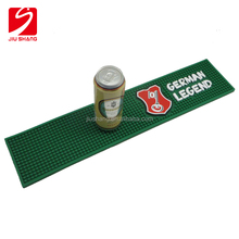 Beer and Drink Promotion & OEM 3D Logo Custom Soft PVC Rubber Bar Mat