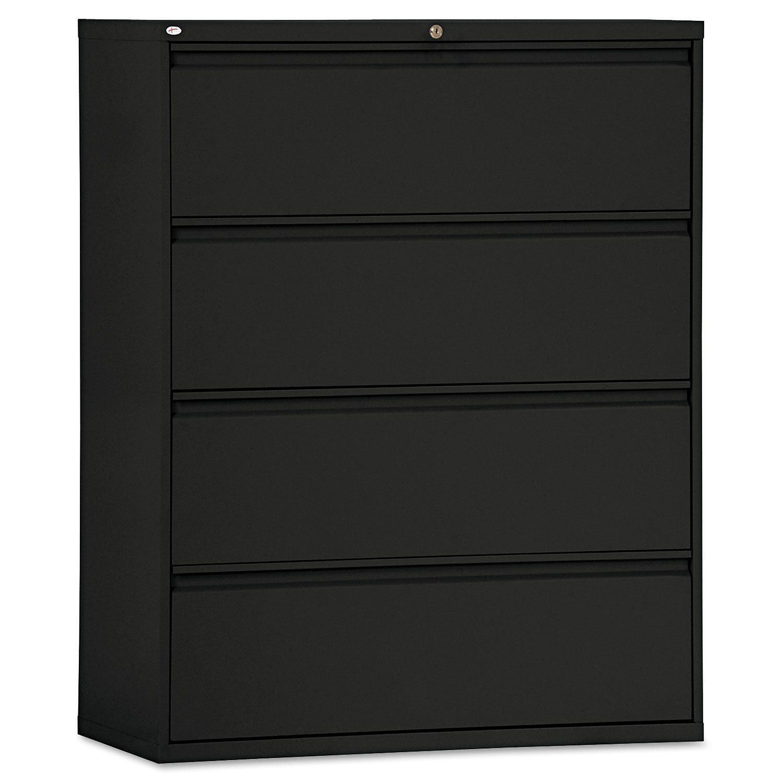 Alera - Four-Drawer Lateral File Cabinet, 42w x 19-1/4d x 53-1/4h, Black LF4254BL (DMi EA