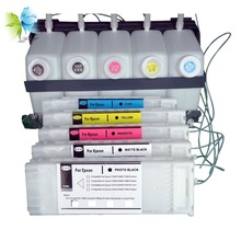 5 farben groß tinte system <span class=keywords><strong>CISS</strong></span> für epson surecolor T3200 T5200 T7200 mit auto-reset-chip