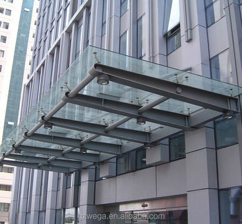 Steel Structure Glass Canopy Buy Glass Canopy Door
