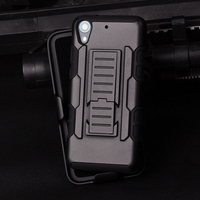 PC silicone Armor hybrid case military 3 in 1 holster combo shockproof back case cover for htc desire 626g