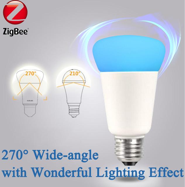 zigbee light link e27 rgbw bulb colorful lamp auto wifi. Black Bedroom Furniture Sets. Home Design Ideas