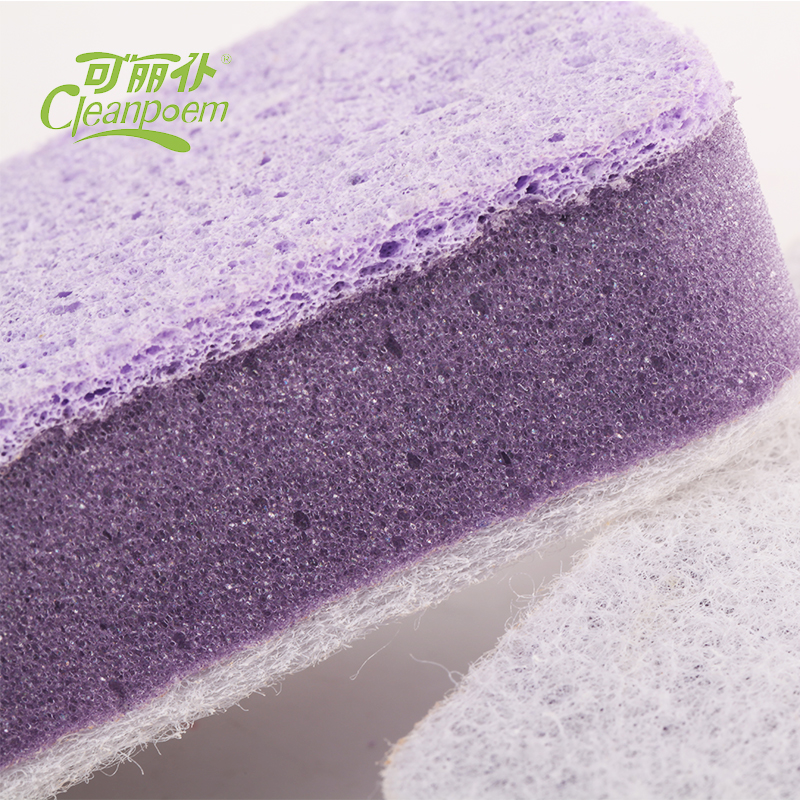 Newest design all purpose cellulose sponge souring pad