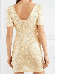 Night Club Casual Ladies Wholesale Elegant Short Sleeve Party Dresses sequin