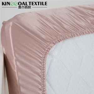 Top grade hotel bedding set solid silk fitted sheet bedding set bed sheets