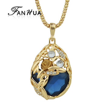 Latest design gold plated water drop shape stone pendant necklace latest design gold plated water drop shape stone pendant necklace mozeypictures Images