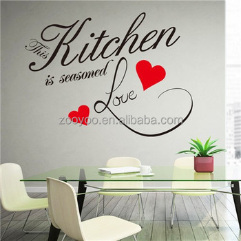 Zooyoo8243vinyl Removable Kitchen Wall Tile Stickers Decorative Sticker  Home Decor Vinyl Kitchen Sticker