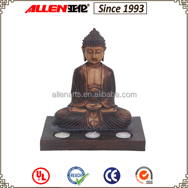 New Product Hot Sales Buddha Sitting Square Candle Holder Decoration