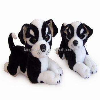 Realistic Plush Pit Bull Terrier Dog Stuffed Pit Bull Terrier Dog
