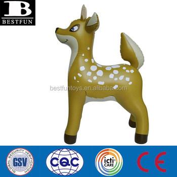 Eco Friendly Vinyl Custom Inflatable Reindeer Durable Pvc Folding Blow Up  Christmas Santa Deer Animal