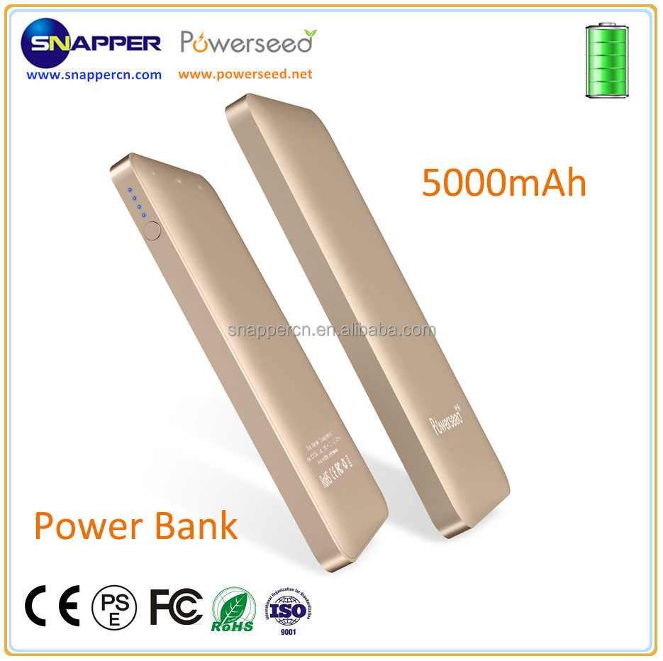 Powerseed Mini Portable Power Source 5000mAh for Mobile Devices Charger