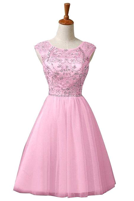 Buy Semi Formal Dress 2015 A Line O Nekck Cap Sleeve Beaded ...