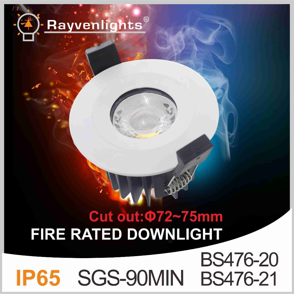 Ip65 Waterproof & Fire-rated Cob Led Downlight 8w 10w White/silver ...