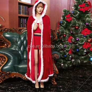 Custom Little Red Riding Hood Sexy Ladies Fancy Christmas Party Dress Costumes