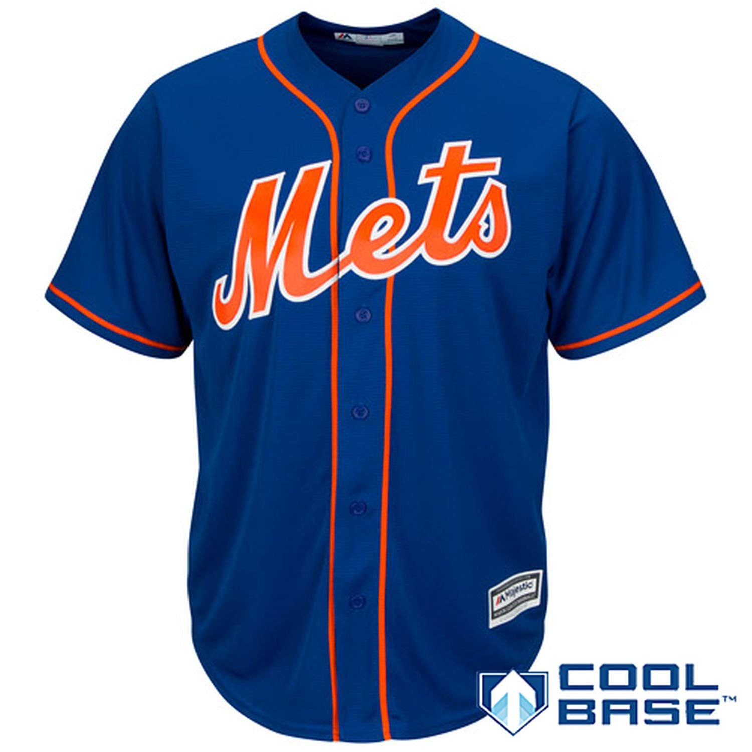 131bbd20e Get Quotations · Outerstuff New York Mets Blank Blue Youth Cool Base  Alternate Replica Jersey