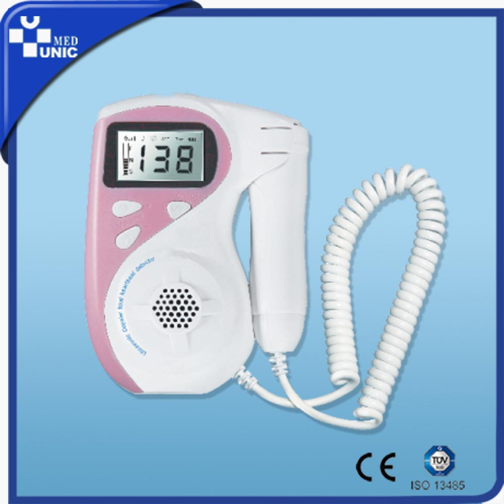 Fetal Heart Rate Monitor Type Pocket Portable Pregnant Low Price Color Ultrasonic Diagnostic Baby Heart beat Fetal Doppler